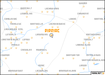 map of Pipriac