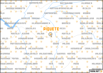 map of Piquete