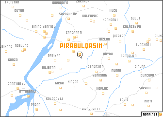 map of Pirǝbülqasım