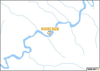 map of Piracaua