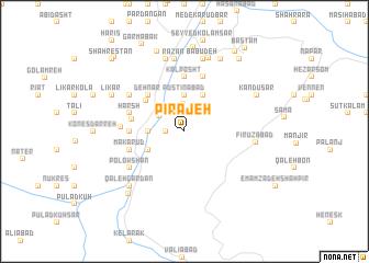 map of Pīrajeh