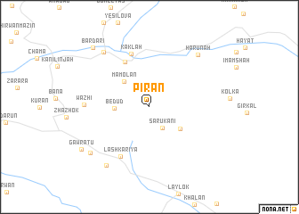 map of Pīrān