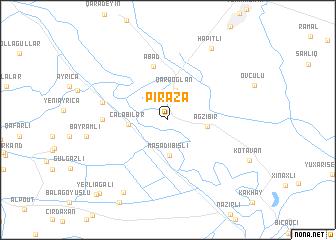 map of Pirǝzǝ