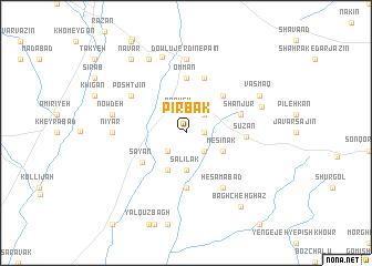 map of Pīr Bak