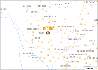 map of Pirinã