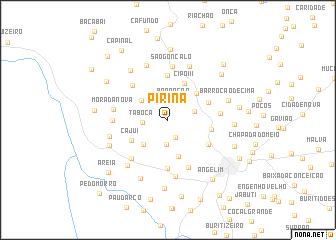 map of Pirinã