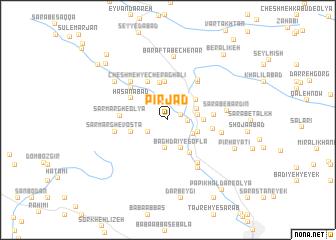map of Pīr Jād