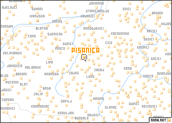 map of Pisanica