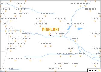 map of Pisklaki