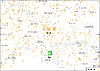 map of Piskoč