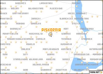 map of Piskornia