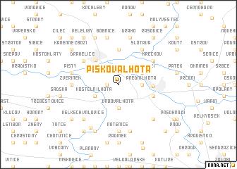 map of Písková Lhota