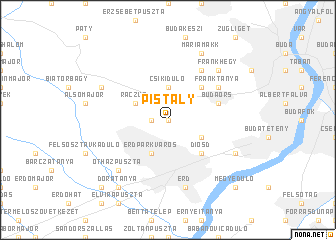 map of Pistály