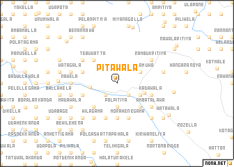 map of Pitawala