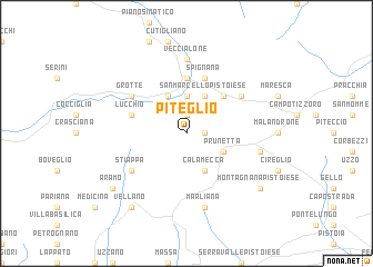 map of Piteglio