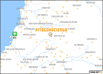 map of Pitogo Hacienda