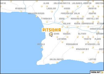map of Pitsídhia