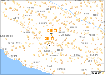map of Pivci