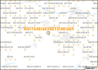 map of Pivitsheide Vogtei Heiden