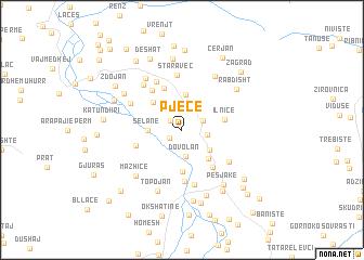 map of Pjeçë