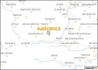 map of Pješčanica