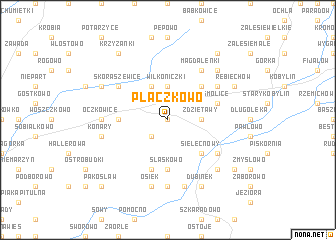 map of Płaczkowo