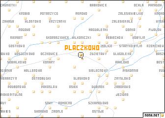 map of Płaczkowo