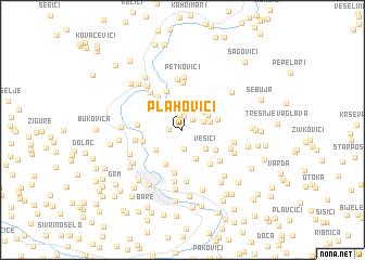 map of Plahovići