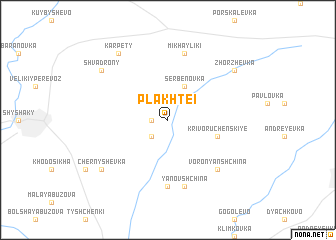 map of Plakhtei