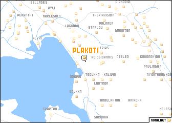map of Plakotí