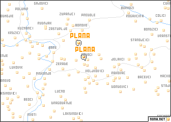 map of Plana