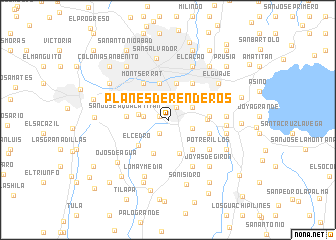 map of Planes de Renderos