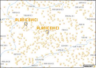 map of Planičevići