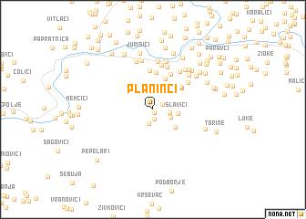 map of Planinci