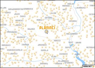 map of Planinći
