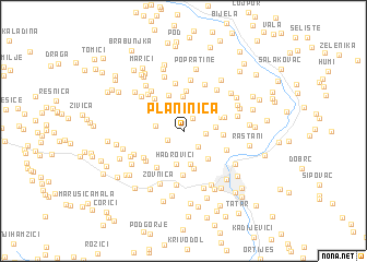 map of Planinica
