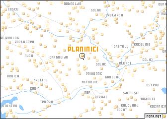 map of Planinići