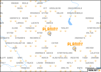 map of Planiny