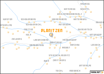map of Planitzen