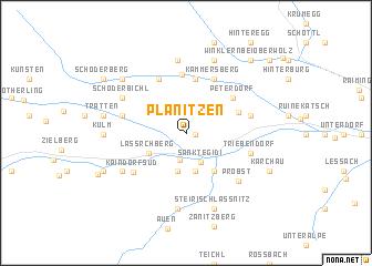 map of Planitzen