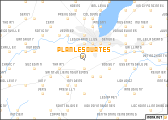 map of Plan-les-Ouates