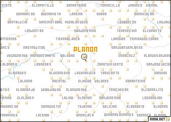 map of Planón