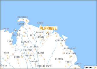 map of Plaridel