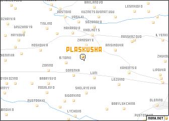 map of Plaskusha