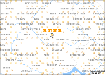 map of Platanal
