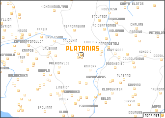 map of Plataniás