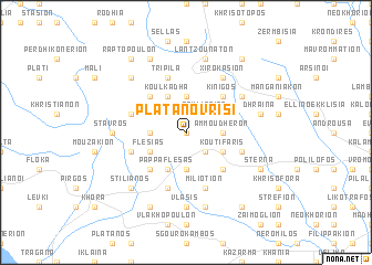 map of Platanóvrisi