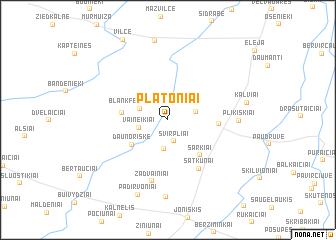 map of Platoniai