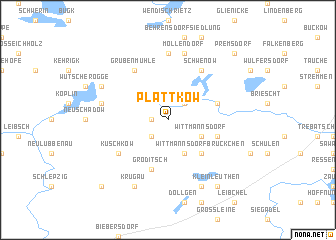 map of Plattkow