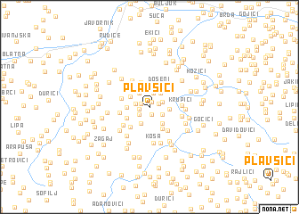 map of Plavšići